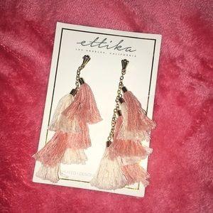 New Blush Fringe Earrings